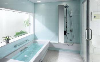 TOTOシステムバスルーム スプリノ モザイクタイル調ほっカラリ床